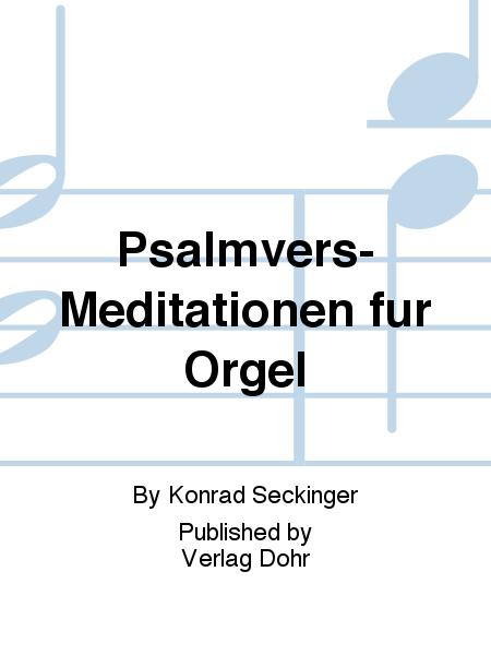 Psalmvers-Meditationen fur Orgel