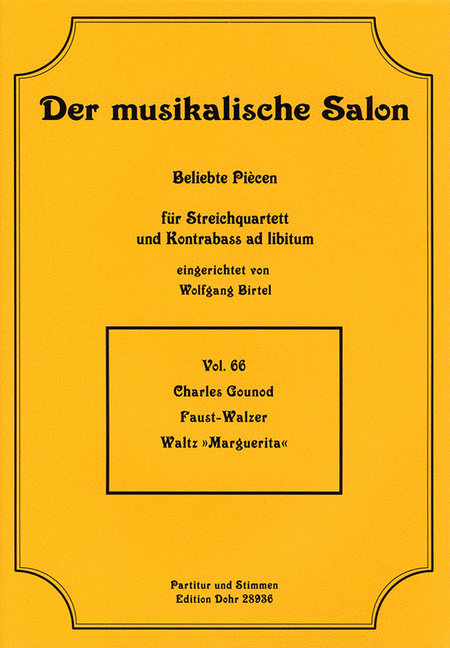 Faust-Walzer fur Streichquartett