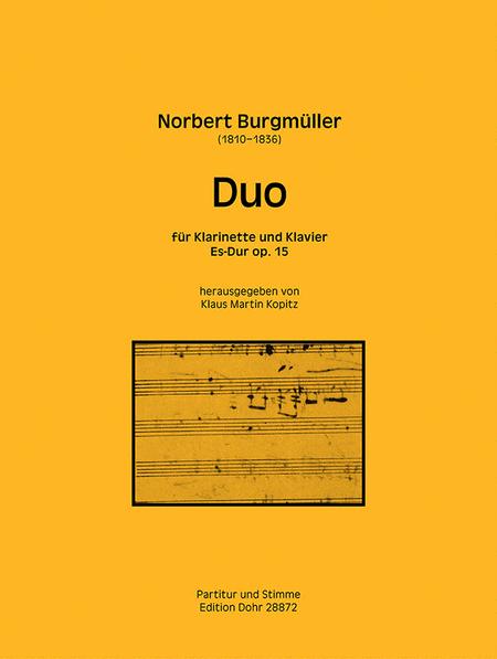 Duo fur Klarinette und Klavier Es-Dur op. 15