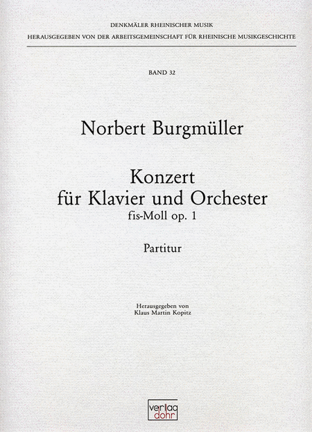 Klavierkonzert fis-Moll op. 1