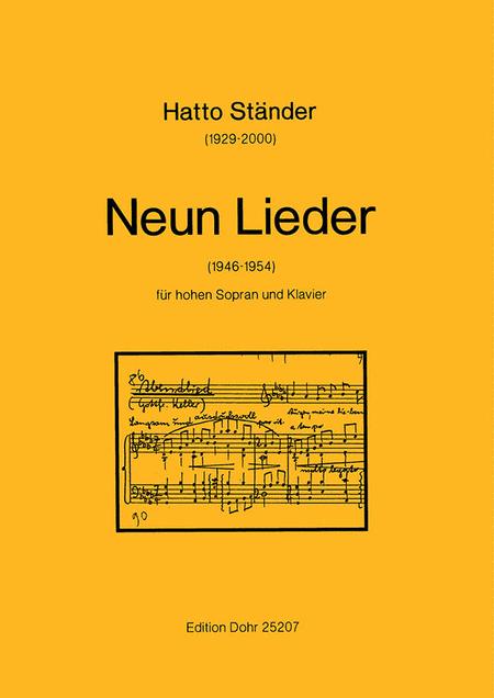 Neun Lieder fur hohen Sopran und Klavier