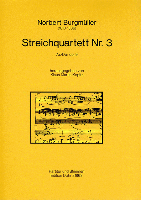Streichquartett Nr. 3 As-Dur op. 9