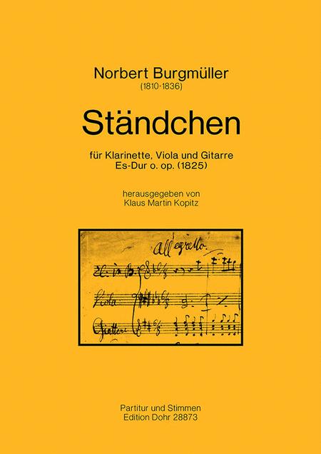 Standchen fur Klarinette, Viola und Gitarre Es-Dur (1825)