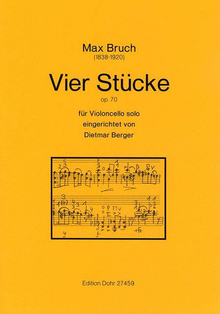 Vier Stucke fur Violoncello solo op. 70