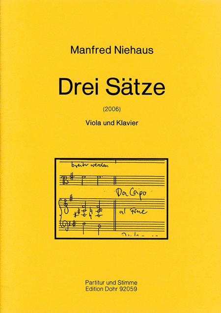 Drei Satze fur Viola und Klavier