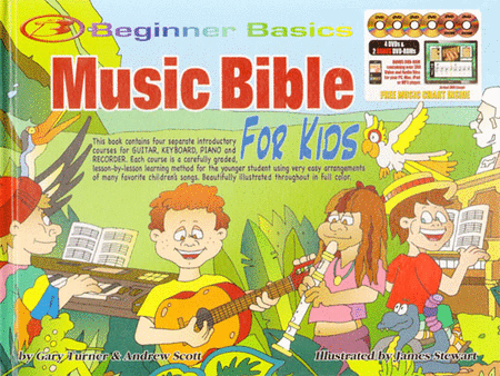 Beginner Basics Music Bible for Kids Book/4DVDs plus 2 Bonus DVD-Roms