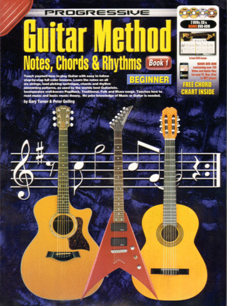 Simple Book Cover Guitar ~ Progressive guitar method notes chords rhythms book