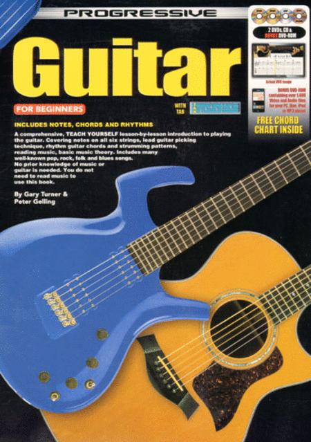 Food Book Cover Guitar : Progressive guitar for beginners book cd dvds plus bonus