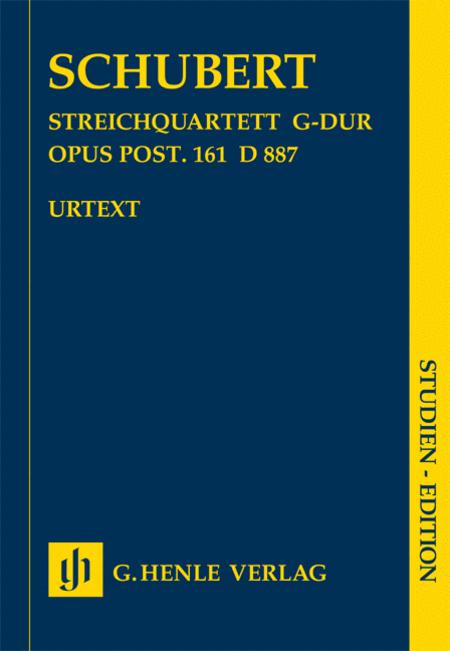 String Quartet in G Major, Op. post. 161 D 887 (Streichquartett G-Dur)