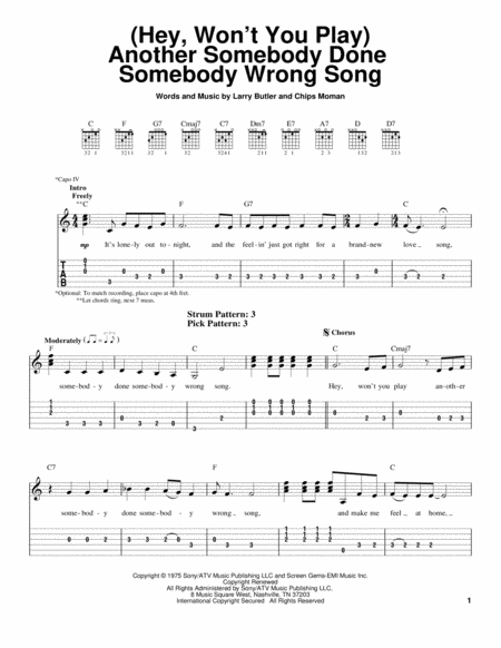 (Hey, Won't You Play) Another Somebody Done Somebody Wrong Song