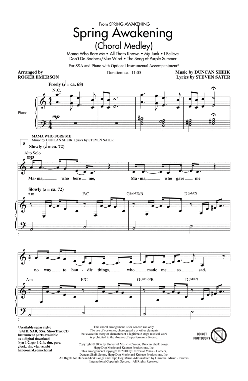 Spring Awakening (Choral Medley)