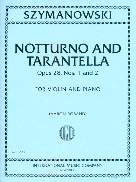 Notturno and Tarantella, Op. 28, Nos. 1 and 2