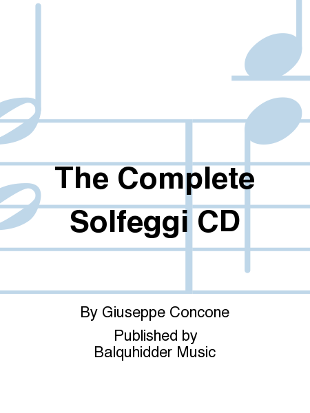 The Complete Solfeggi - CD