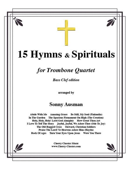 15 Hymns & Spirituals-Bass clef edition