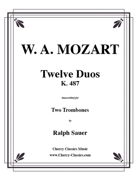 Twelve Duos for Two Trombones