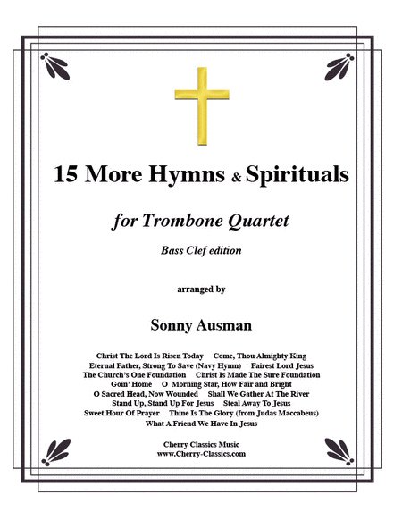 15 More Hymns & Spirtuals-Bass Clef