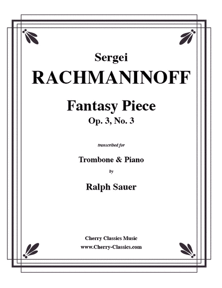 Fantasy Piece Op. 3 No. 3 for Trombone & Piano