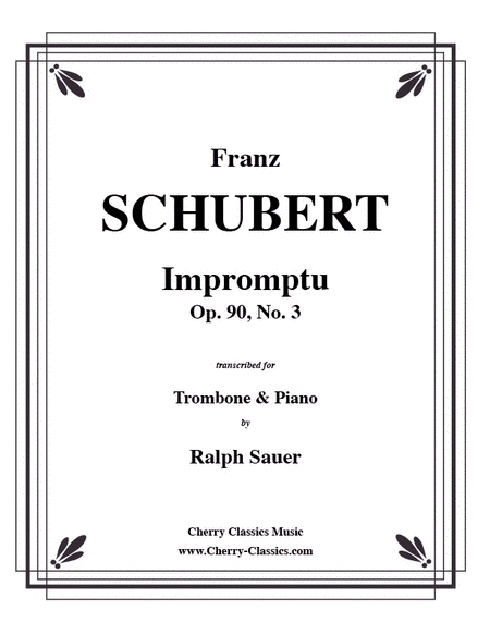 Impromptu, Opus 90, No. 3 for Trombone & Piano