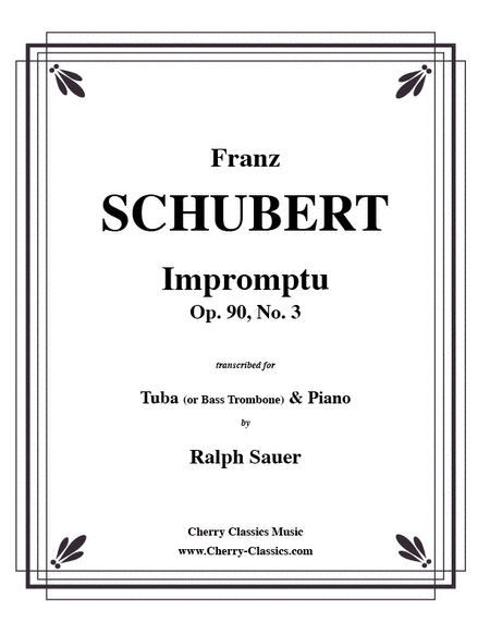 Impromptu, Opus 90, No. 3 for Tuba or Bass Trombone & Piano