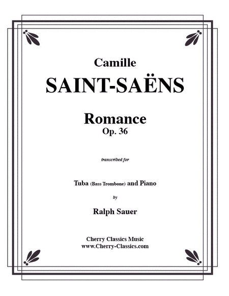 Romance, Opus 36 for Tuba or Bass Trombone & Piano