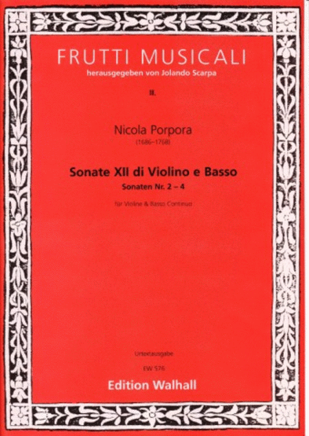 XII Sonate, Nr. 2-4