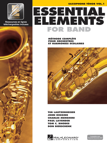 Essential Elements for Band - Tenor Saxophone (French Edition)