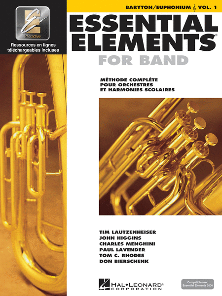 Essential Elements 2000 - Vol. 1 (Baritone/Euphonium T.C.) - French Edition