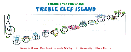 Treble Clef Island Poster
