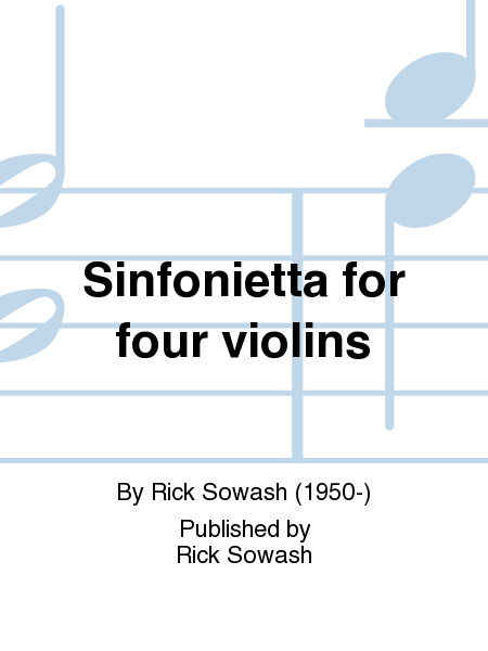 Sinfonietta for four violins