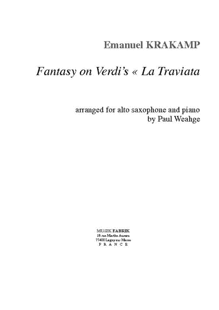 Fantasy on Verdi's