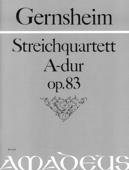 Quartet A major op. 83