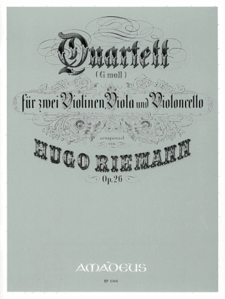 Quartet in G minor op. 26