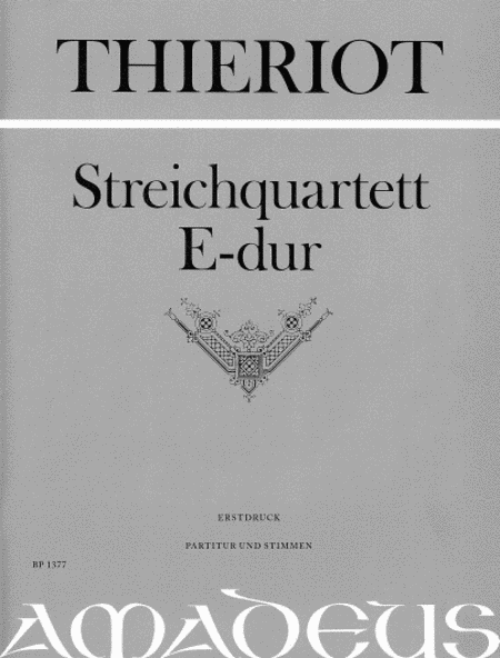 String Quartet E major