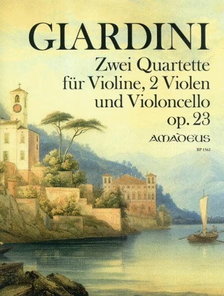 Zwei Quartette Op. 23