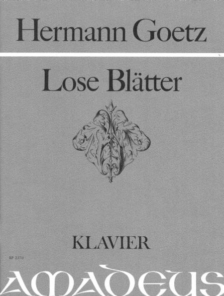 Lose Blaetter op. 7