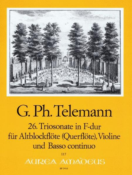 26th Trio sonata F major TWV 42:F6