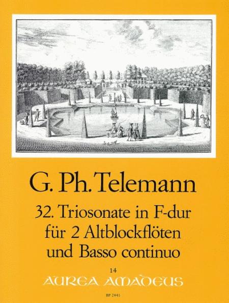 32nd Trio sonata F major TWV 42:F7
