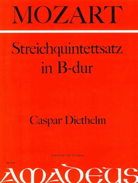 String Quintet Movement Bb major KV 80