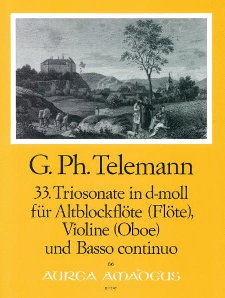 33rd Trio sonata D minor TWV 42:d7