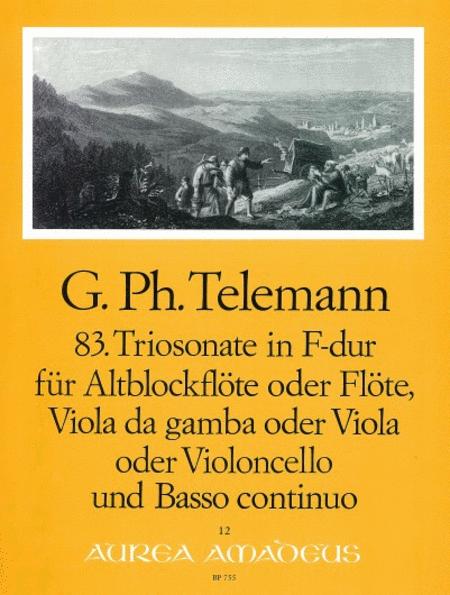 83. Trio sonata F major TWV 42:F3