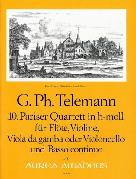 10th Paris Quartet B minor TWV 43:h2