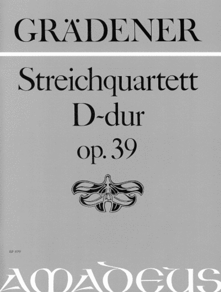 String Quartet D major op. 39
