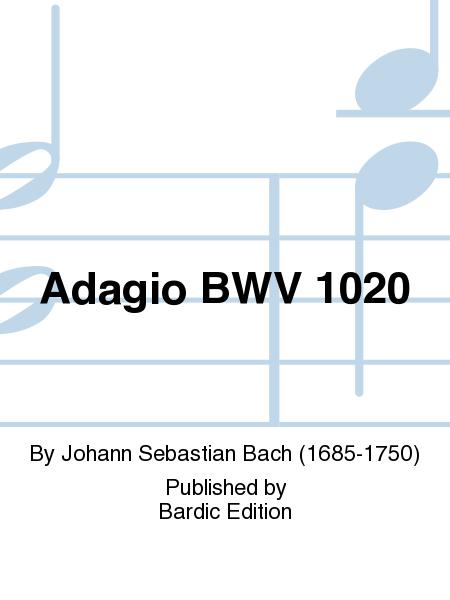 Adagio BWV 1020