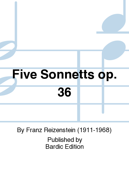 Five Sonnetts op. 36