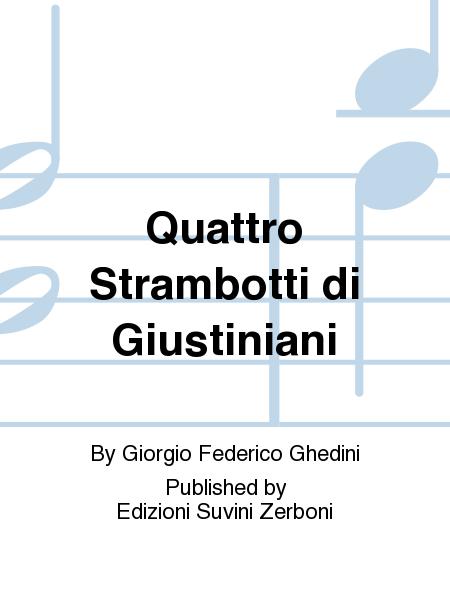Quattro Strambotti di Giustiniani