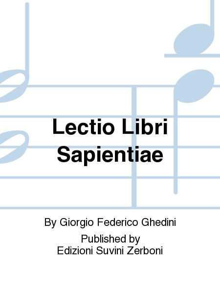 Lectio Libri Sapientiae