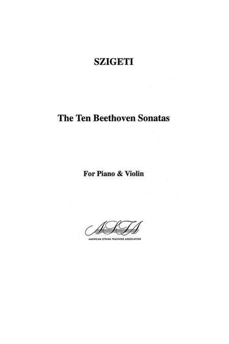 The Ten Beethoven Sonatas
