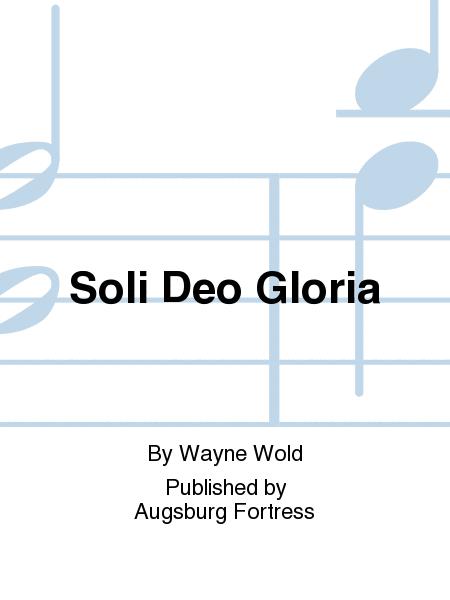 Soli Deo Gloria