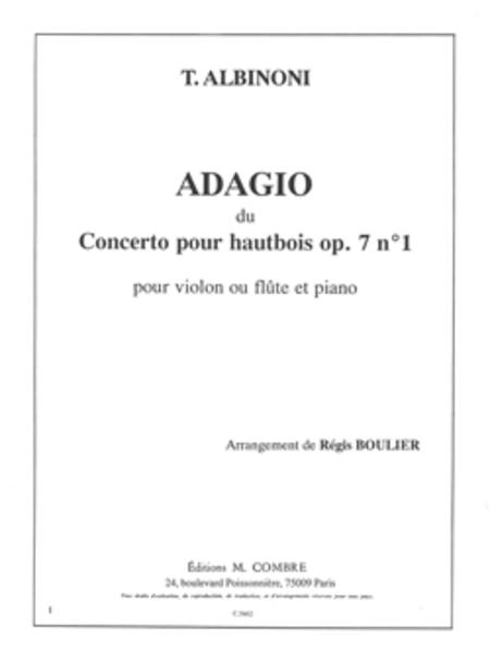 Adagio du Concerto Op. 7 no. 1 pour hautbois