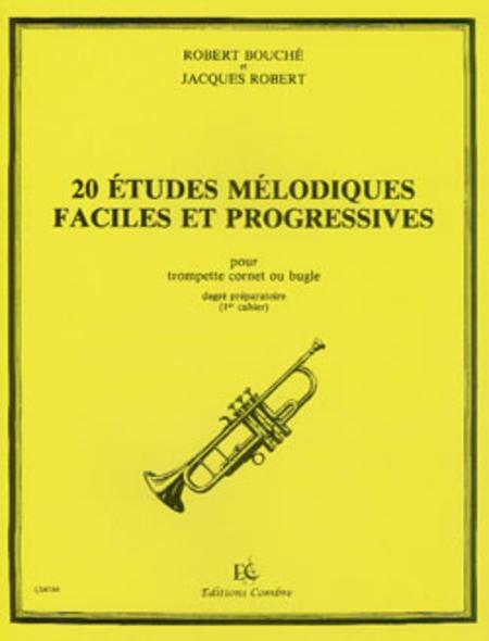 Etudes melodiques faciles et progressives (20) Vol. 1